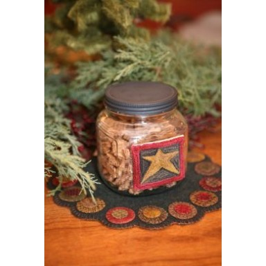 Star Candy Jar Punch Needle