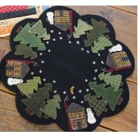 Winter Cabin Table Mat
