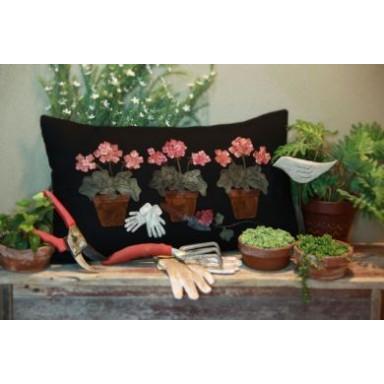 Potted Geranium Pillow