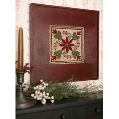 Old Time Poinsettia Punch Needle