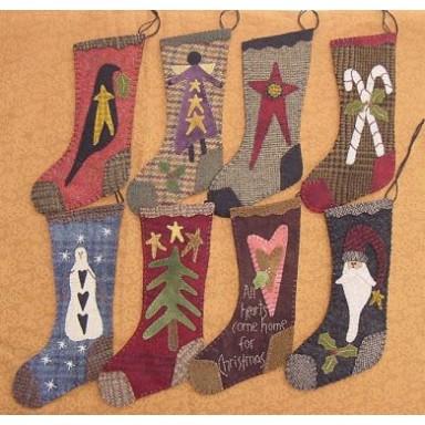 "9"" Wool Christmas Stockings"