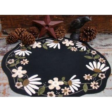 White Flower Table Mat